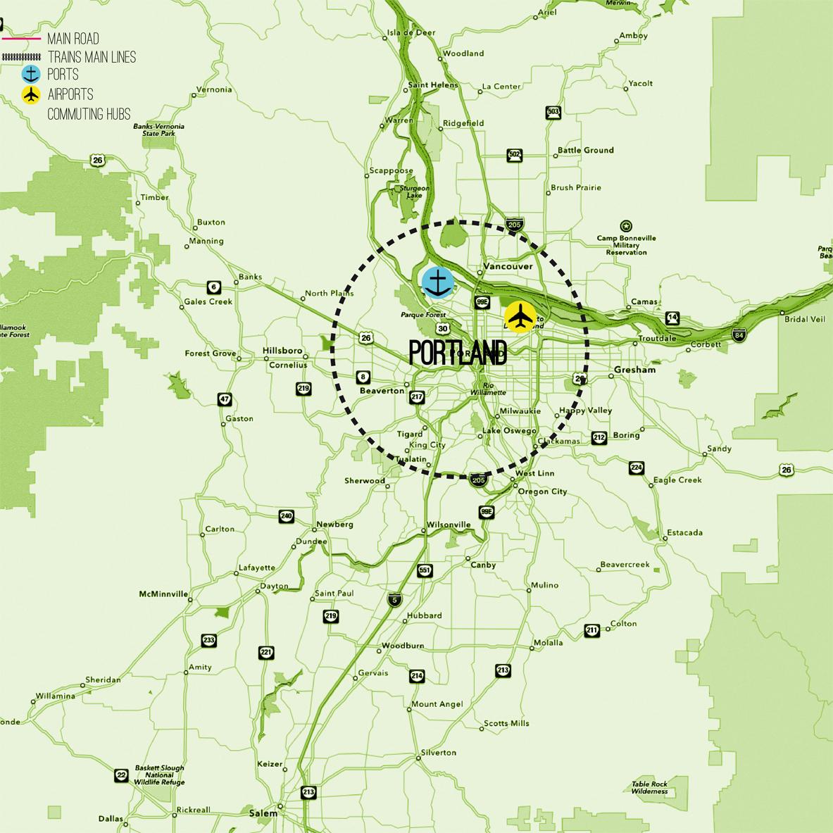 Portland Case Study - Map