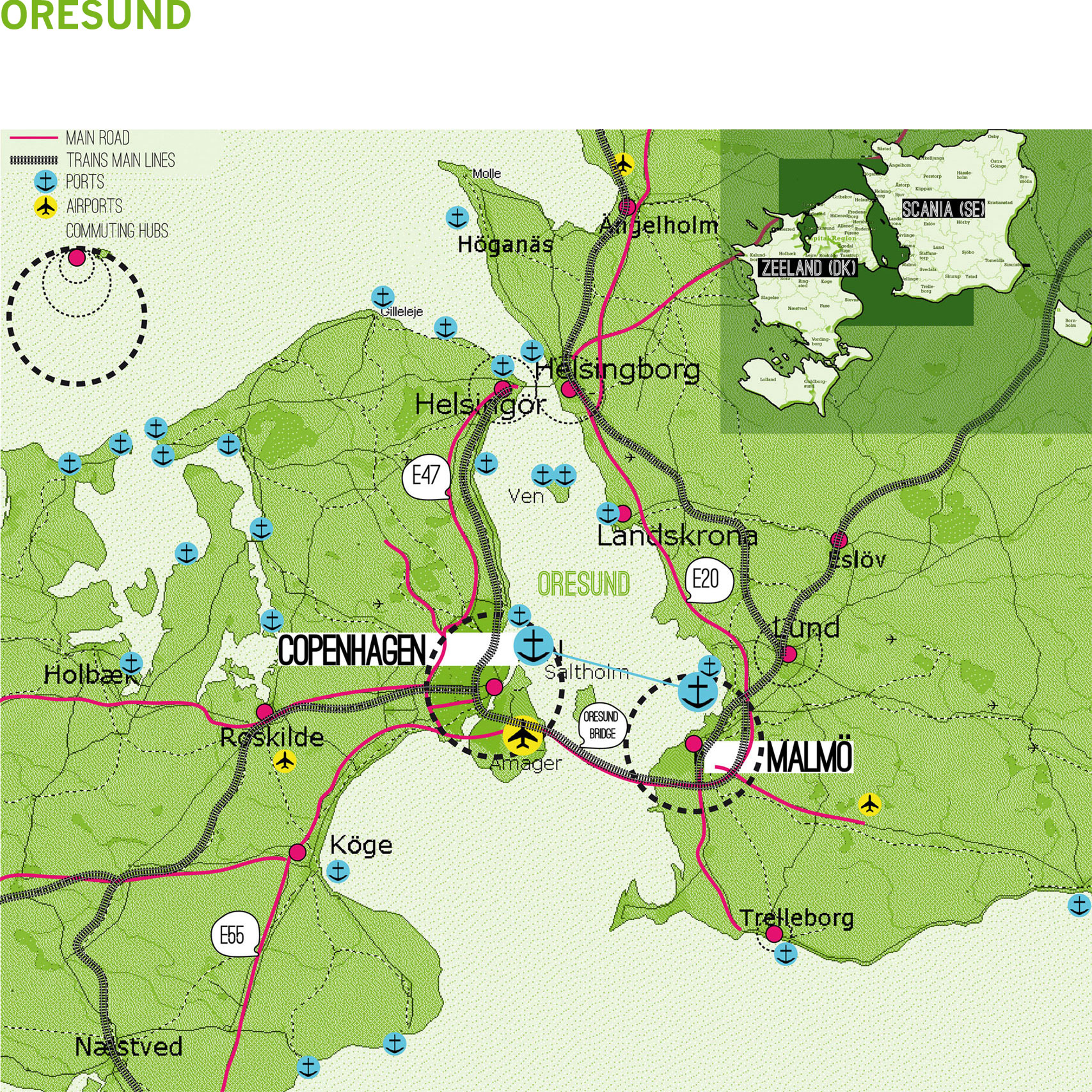 Oresund Case Study - Map